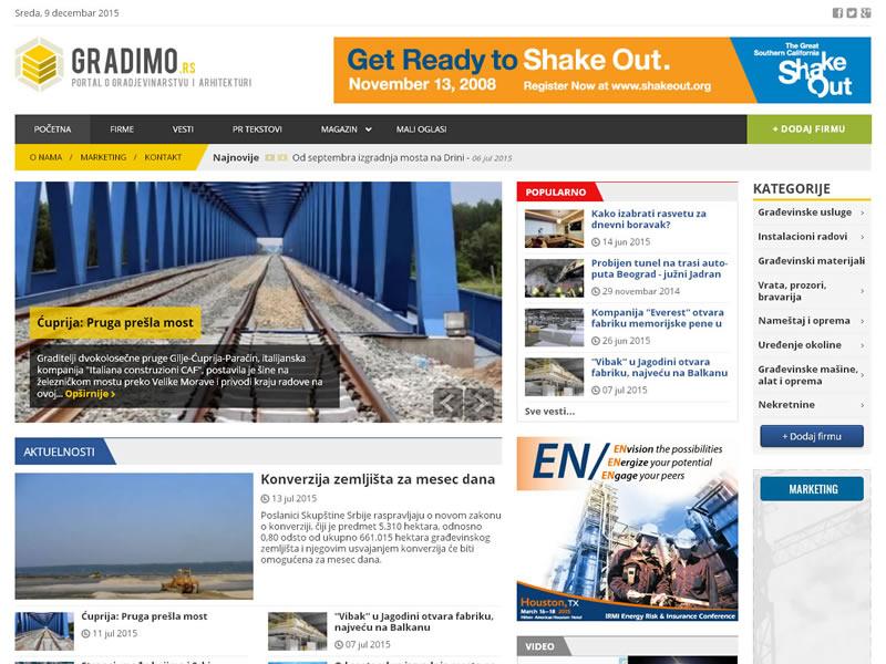 Magazine gradimo.rs architecture construction joomla magazine web design