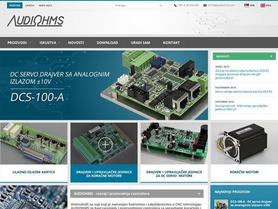 Audiohms - CNC tehnology joomla cnc tehnology web design