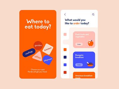 Web App - Delivery App Concept search buenosaires navigation menu mobile slide ux eat home delivery food fruits colors app web