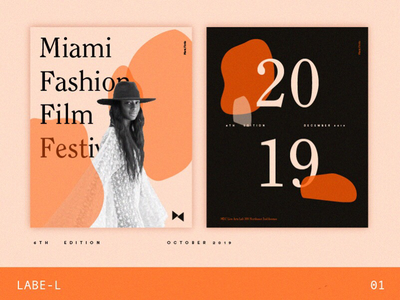 Labe-L #10 argentina buenos aires poster festival illustration collection typography letters shapes editorial art invite fashion 2019 numbers palette orange branding editorial