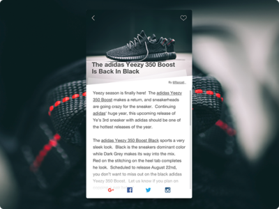 Day 018 - Blog Post android iphone 100days ui interface card app yeezy blog