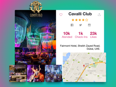 Day 029 - Club Profile 100days ui interface card club event