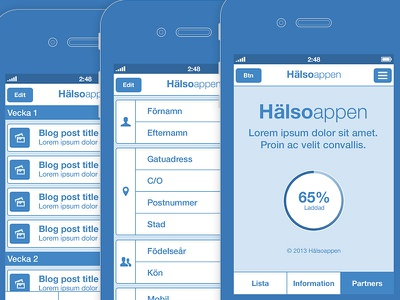 Wireframes wireframe wireframes blueprint blue app ios iphone mobile