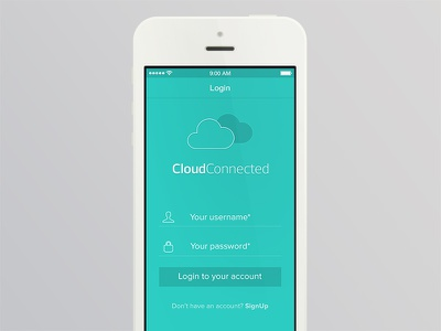 Cc - Login app ui interface ios iphone form login mobile retina§
