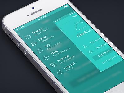 Cc - Menu retina menu navigation nav ui interface mobile green ios ios7 iphone app