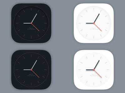 Clock Icon icon icons ico ios ios7 apple iphone ipad time clock watch analog