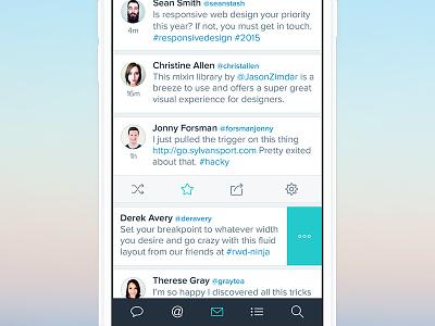 Twitter App ios app iphone mobile retina apple ios8 ui ux twitter feed flat
