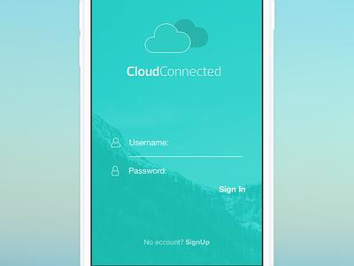 Cc Login - 2015 app ios mobile ui interface login minimal minimalistic clean form menu green