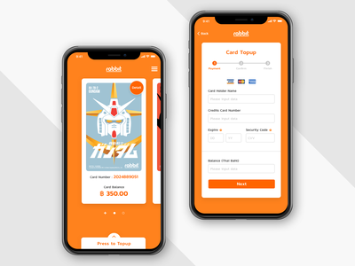 Rabbit Card Topup Concept UI Design money topup card mobile app application user interface ui design