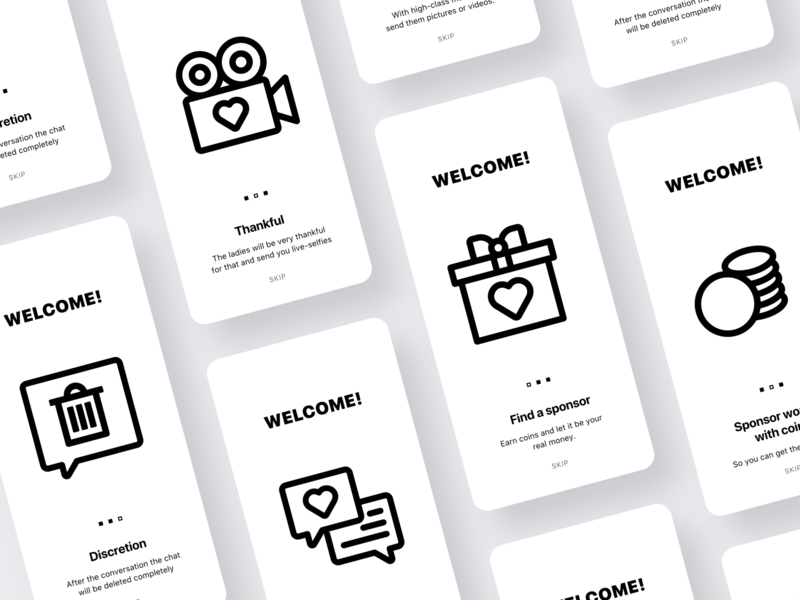 Rinsing App - Onboarding mobile app ui app design black  white blackandwhite ios minimalistic minimal icon design icon set icons flat dating app black and white minimalism clean ui ui ux clean design