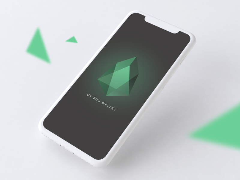 My EOS Wallet - Splashscreen blockchaintechnology blockchain uidesign clean mobile app design mobile crystal app design ui app clean design minimalism mobile ui clean ui icon splashscreen cryptocurrency crypto wallet crypto eos