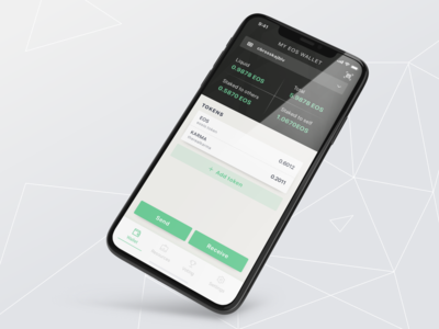 My EOS Wallet - Main Screen mobile app design mobile design wallet ui wallet blockchaintechnology blockchain crypto currency cryptocurrency crypto wallet eos mobile app ui ux flat app design ui clean ui app clean design minimalism