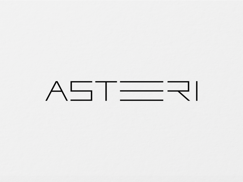 ASTERI - Logo Design art typogaphy typeface business card design businesscard black and white blackandwhite black  white universe stars asteri logos logo design logodesign logotype branding design logo clean design minimalism