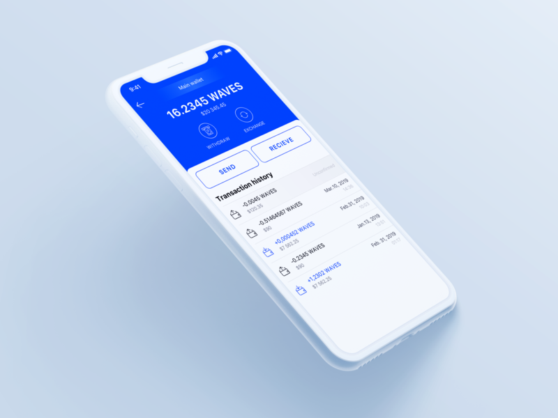 Paytomat Wallet - Currency Details blockchain cryptocurrency blockchaintechnology currencies waves eos bitcoin blockchain crypto crypto currency cryptocurrency crypto wallet wallet ux mobile app design ui clean ui app clean design minimalism