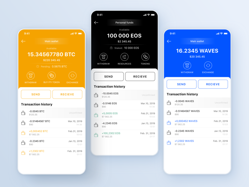 Paytomat Wallet - Currency Details wallet ui eos bitcoin btc transactions blockchain cryptocurrency cryptocurrencies cryptocurrency balance crypto wallet development crypto wallet crypto blockchaintechnology blockchain app ui mobile ui ux clean design minimalism