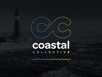 Coastal Collective Logo creative agency collective lytham gradient blackpool purple neon graphic design branding logo