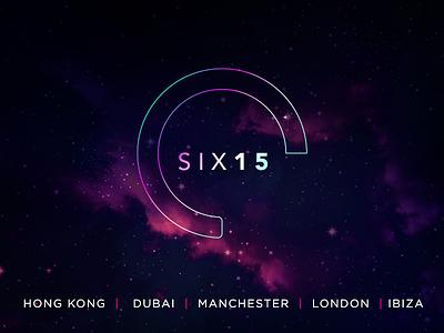 Six 15 GroupBranding hong kong dubai manchester ibiza london duotone magenta purple neon music branding logo