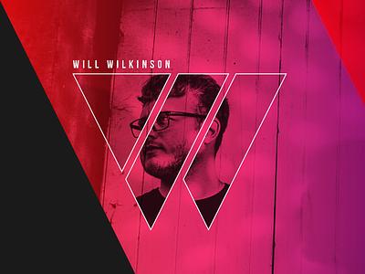 New Branding for DJ Will Wilkinson geometric duotone magenta purple neon graphic design dj festival music branding logo