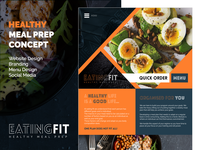Eating Fit - Healthy Meal Prep Concept