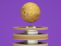 Magnet Gold Moon
