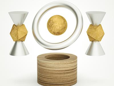 Magnet Gold Moon 2 design cinenam 4d