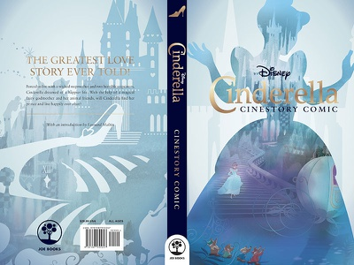 Cinderella soft cover graphic design book design book cover