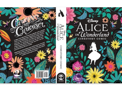 Alice in Wonderland Hard Cover graphic design book cover book design