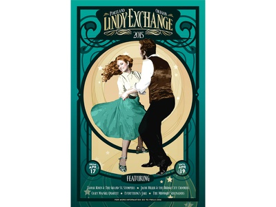 Lindy 2015 dance marketing poster