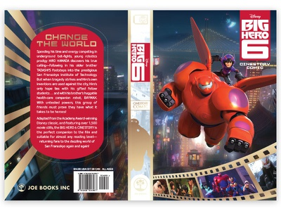Big hero 6 Cinestory Cover print book design cover design