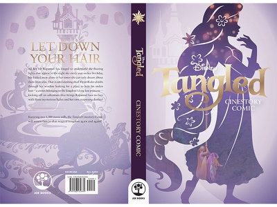 Tangled soft cover comic size print book design cover design