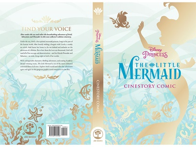 Little Mermaid Mass market Cover print book design cover design