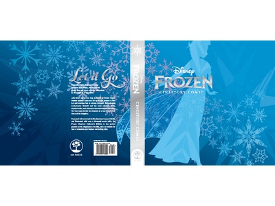 Frozen Hard Cover Jacket print book design cover design