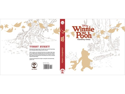 Winnie the Pooh Hard Cover Jacket print book design cover design