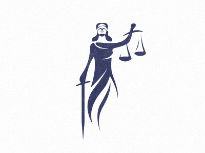 Lady Justice justice sword woman international law law lady justice logo