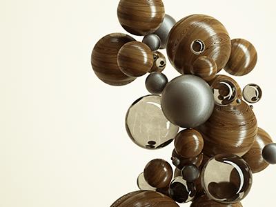 CnM/#1 metal glass wood art materials motion graphics motion design creative cinema4d c4d 3d