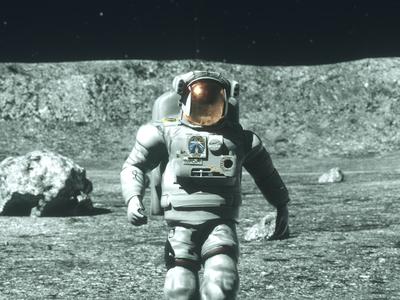 Moonwalker #2 motion graphics motion design cinema 4d c4d 3d moonwalker sci fi space astronaut moon