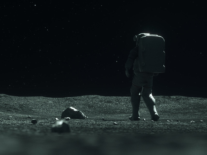 Moonwalker #3 motion graphics motion design cinema 4d c4d 3d moonwalker sci fi space astronaut moon