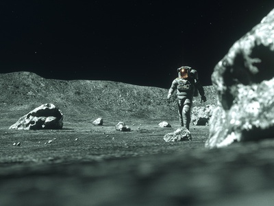 Moonwalker #4 motion graphics motion design cinema 4d c4d 3d moonwalker sci fi space astronaut moon