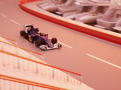 Matgeek goes Monaco #2 grand prix gp motion graphics car race speed 3d formula 1 f1 monaco