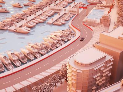 Matgeek goes Monaco #5 grand prix gp motion graphics car race speed 3d formula 1 f1 monaco
