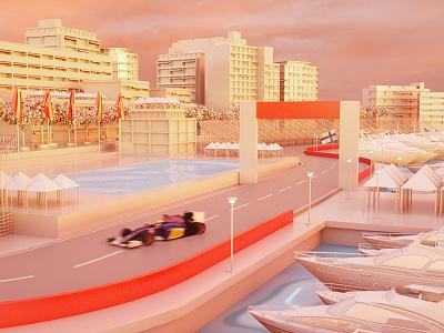 Matgeek goes Monaco #6 grand prix gp motion graphics car race speed 3d formula 1 f1 monaco