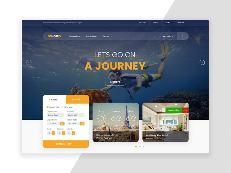 Hotel Booking Website ux ui web ui design ux design web template web design website