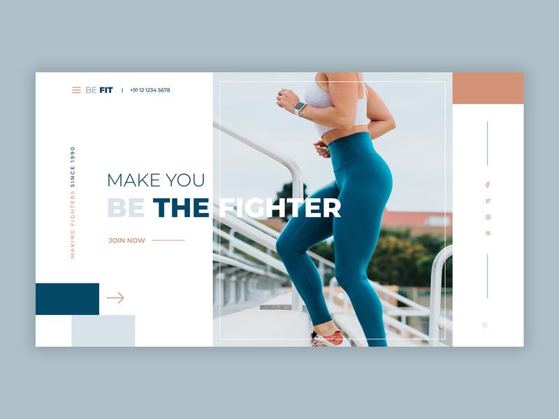 Fitness ui design design typography ux design hero website ui ux fitness