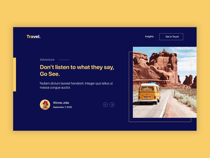 Blog ui design carousel slider travel blog design blog post ui ux