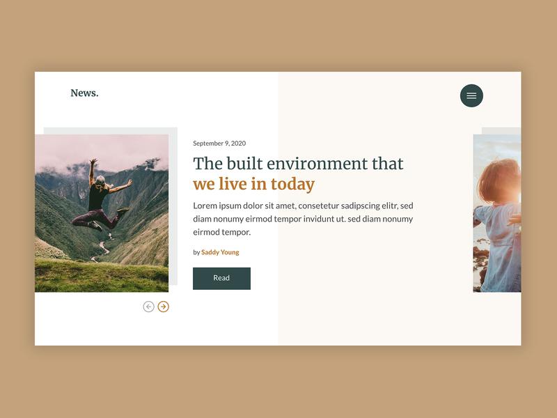 News Carousel web design website user experience ux ui design carousel user interface