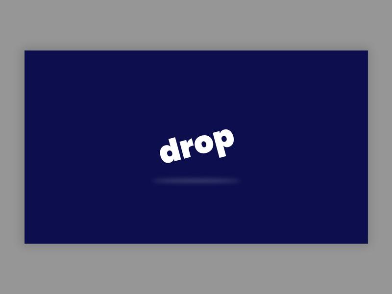 Drop - Logo Concept vector logo design branding concept concept typography ux branding design brand