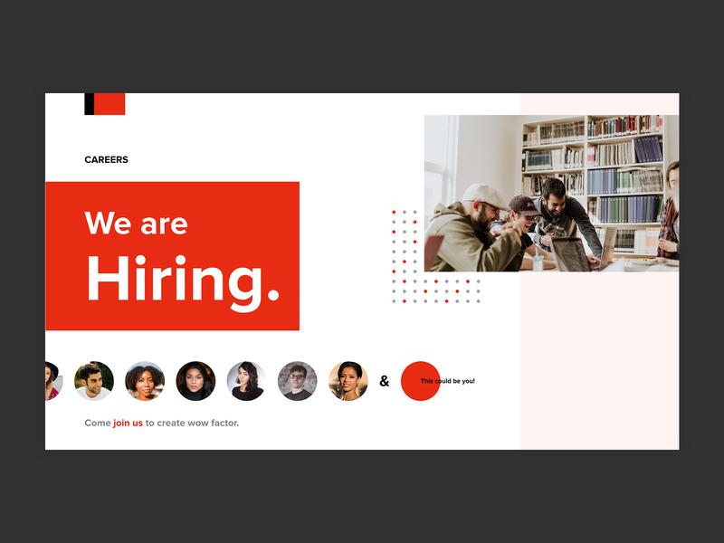 Career careers page career ux ui design website template ui design