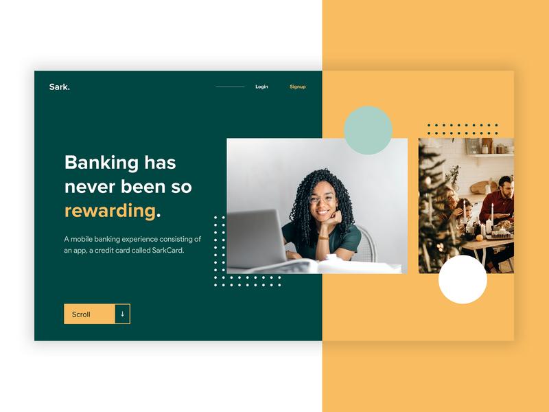 Banking typography layout grid golden canon grid green landing page ui design landingpage banking finance ui design ui  ux landing page website branding landing