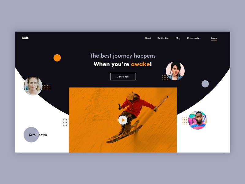 Landing landing page design website adobe xd designs saddy video home page illustrator ui designs ux landingpage landing
