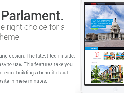 Parlament - Political WordPress Theme ui ux wordpress design parallax events tribe events colorful